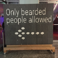Only bearded ppl allowed