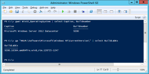 Windows Server 2012 Buildnumber