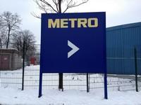 Hinweisschield Metro