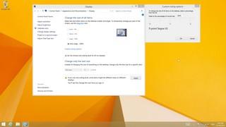 Skalierung jenseits des Standards: Windows 8.1 erlaubt weitergehende Vergrößerung, aber die Einstellung ist ein wenig versteckt. Für die nachfolgenden Abbildungen skaliere ich mit 300 %.